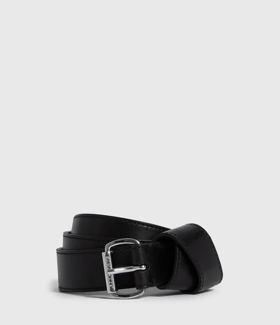 Women's Leonie Leather Belt (black) - Image 1
