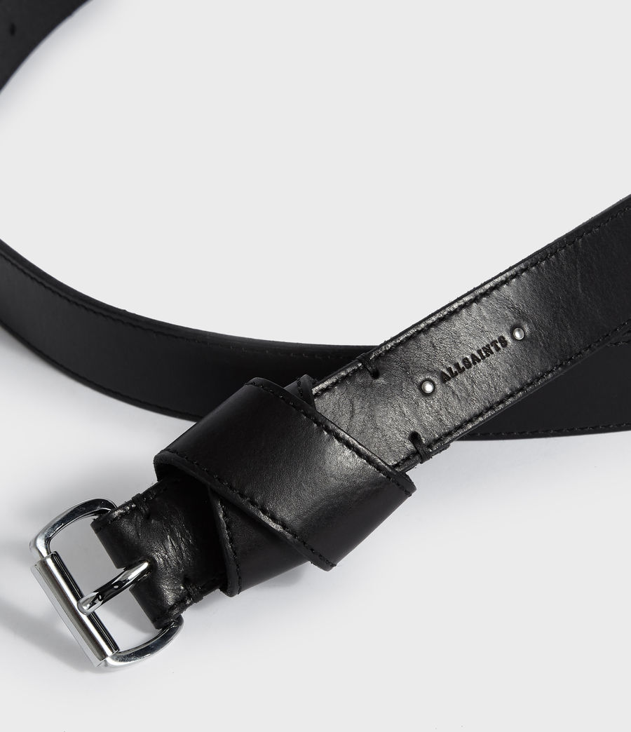 Women's Leonie Leather Belt (black) - Image 3