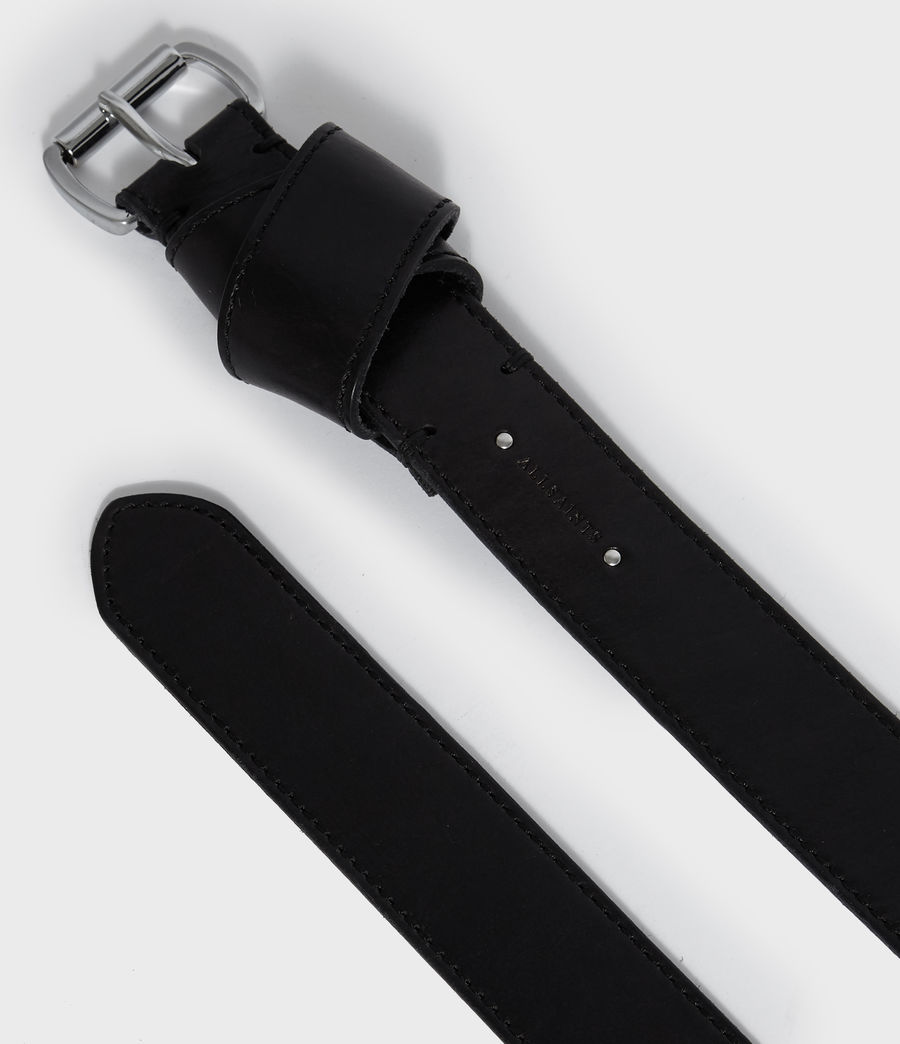 Women's Leonie Leather Belt (black) - Image 4