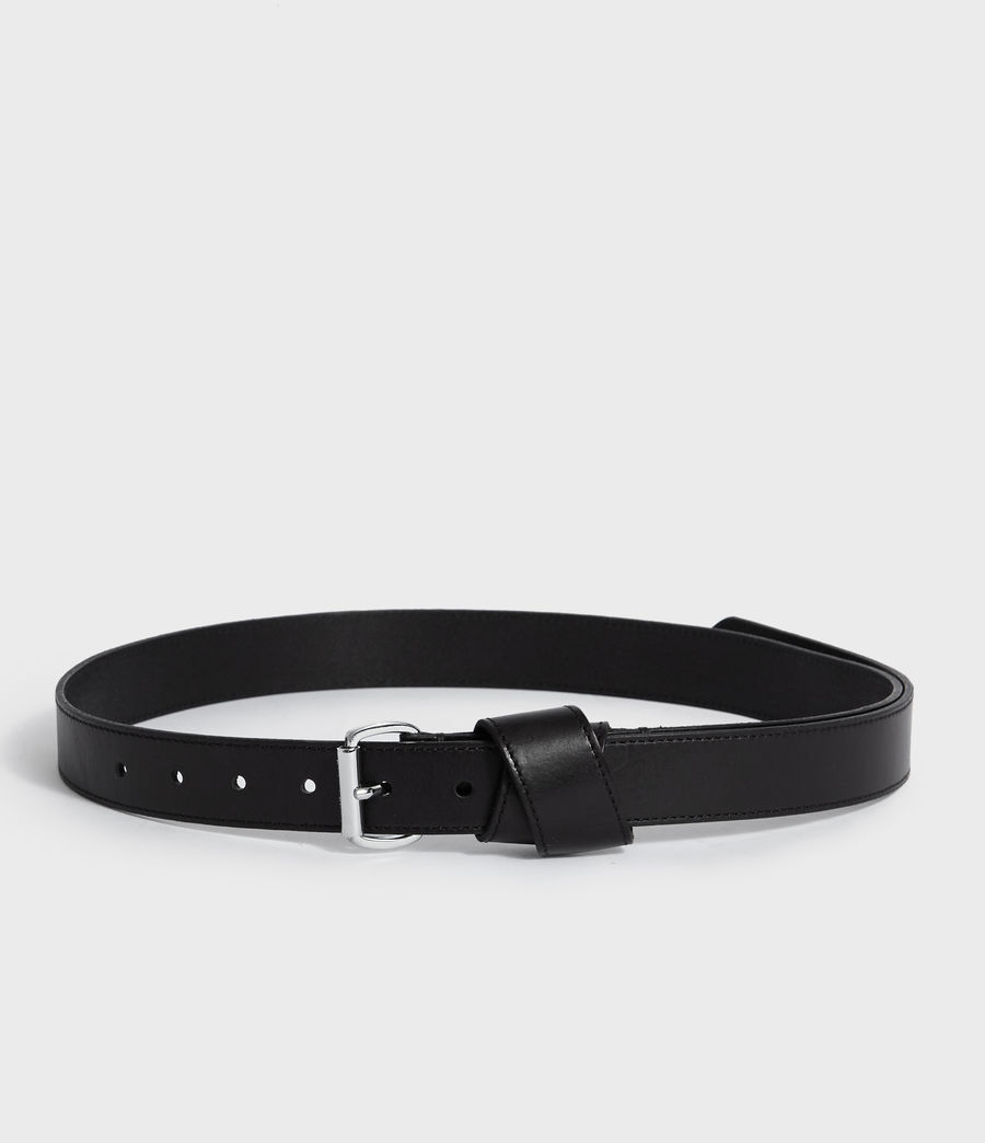 Women's Leonie Leather Belt (black) - Image 5