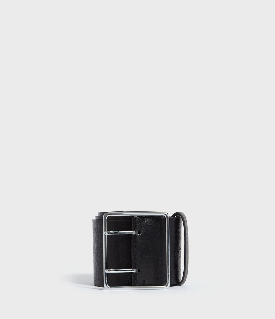 Womens Aline Leather Belt (black) - Image 1