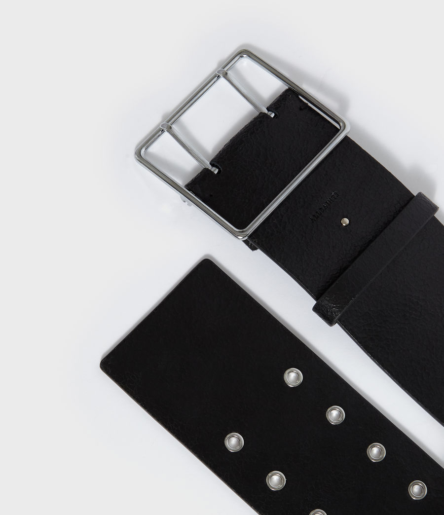 Womens Aline Leather Belt (black) - Image 5