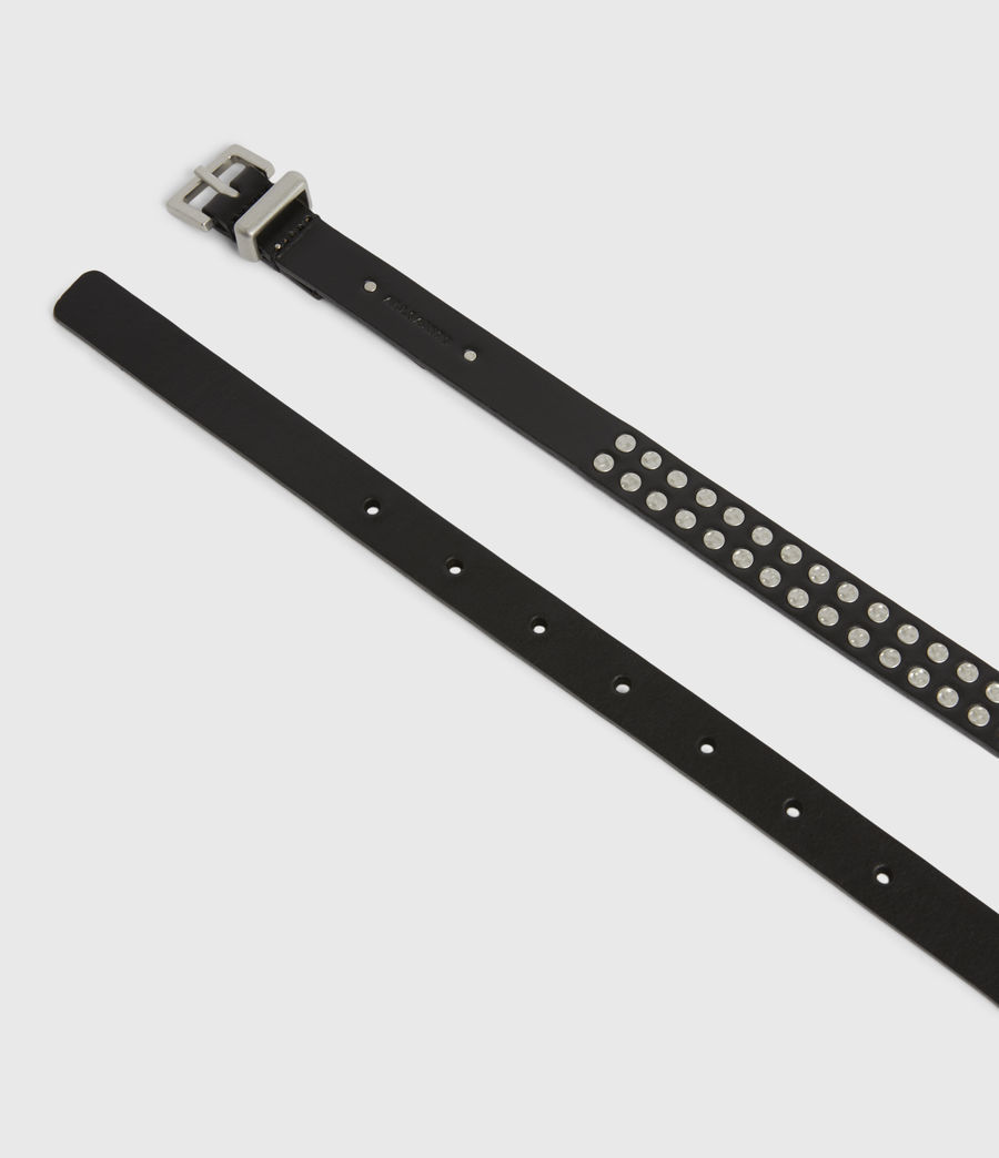 Womens Anya Skinny Leather Belt (black) - Image 2
