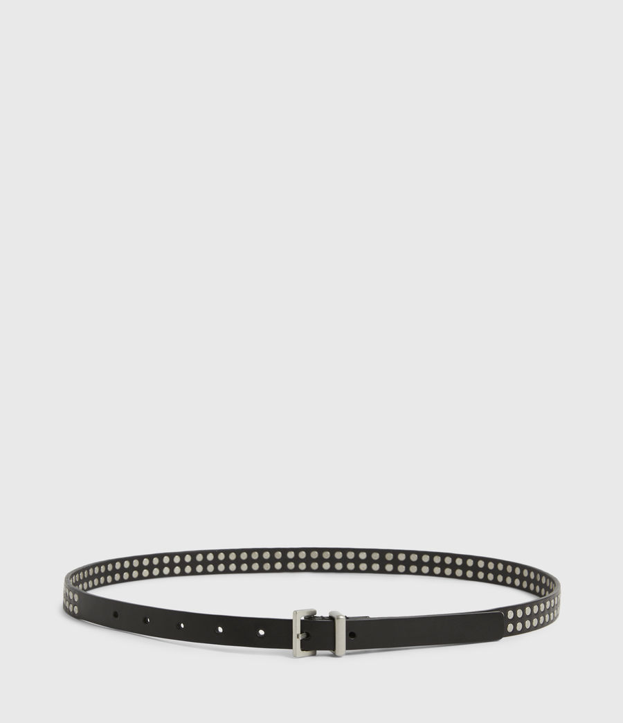 Womens Anya Skinny Leather Belt (black) - Image 4