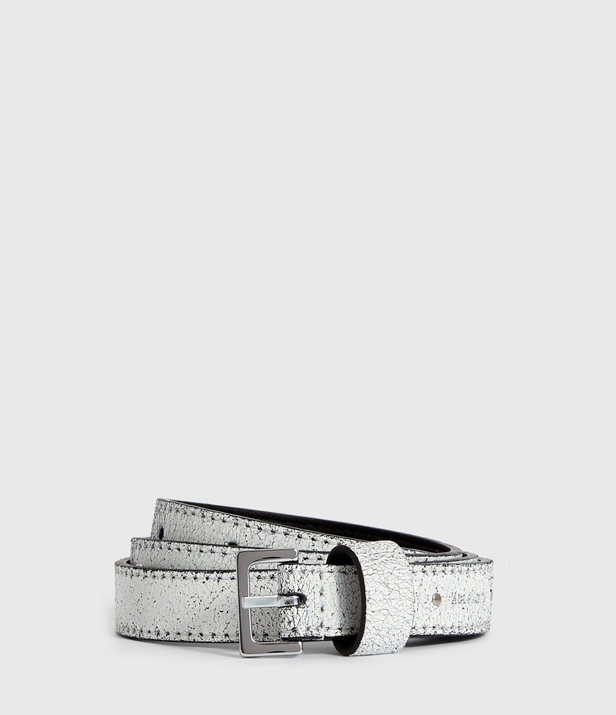 Womens Pipi Leather Belt (white) - Image 1