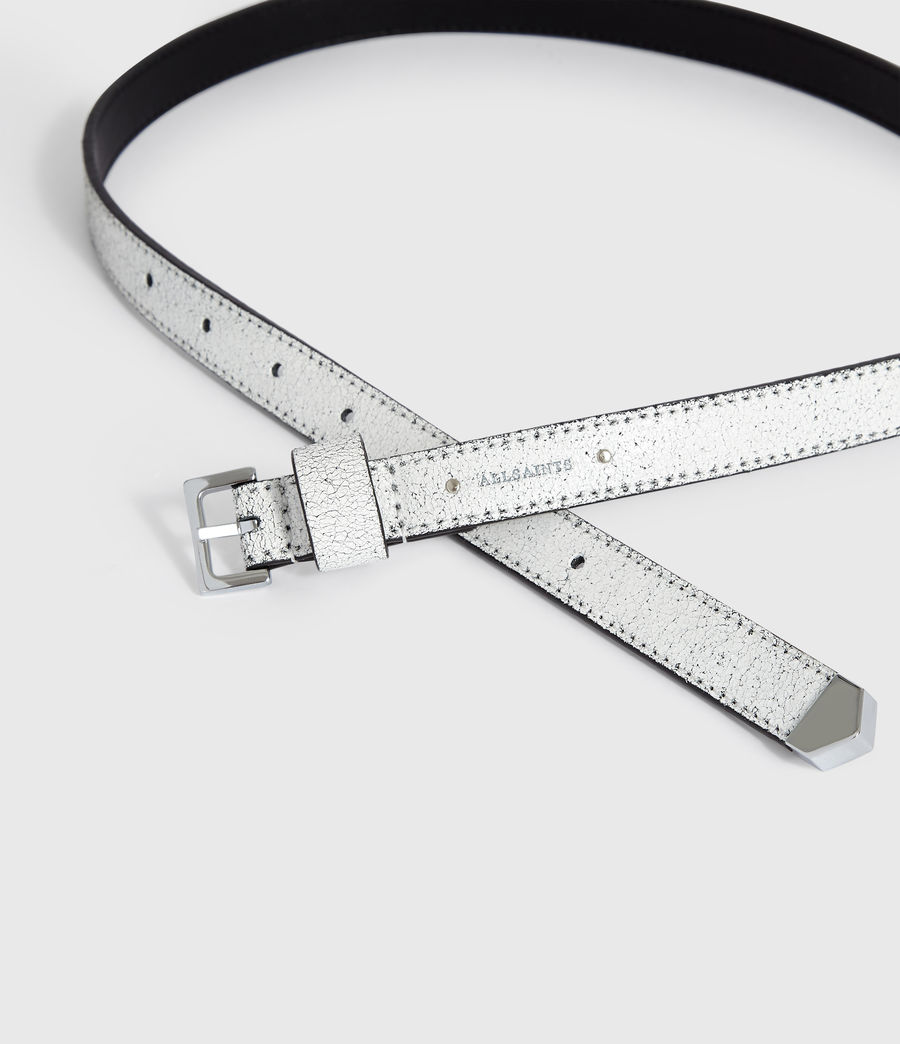 Womens Pipi Leather Belt (white) - Image 3