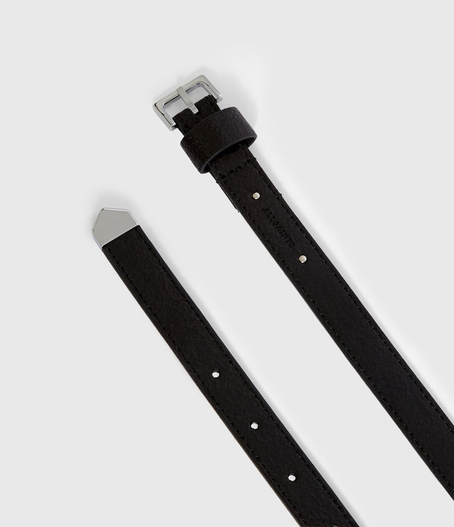 Womens Pipi Leather Belt (white) - Image 4
