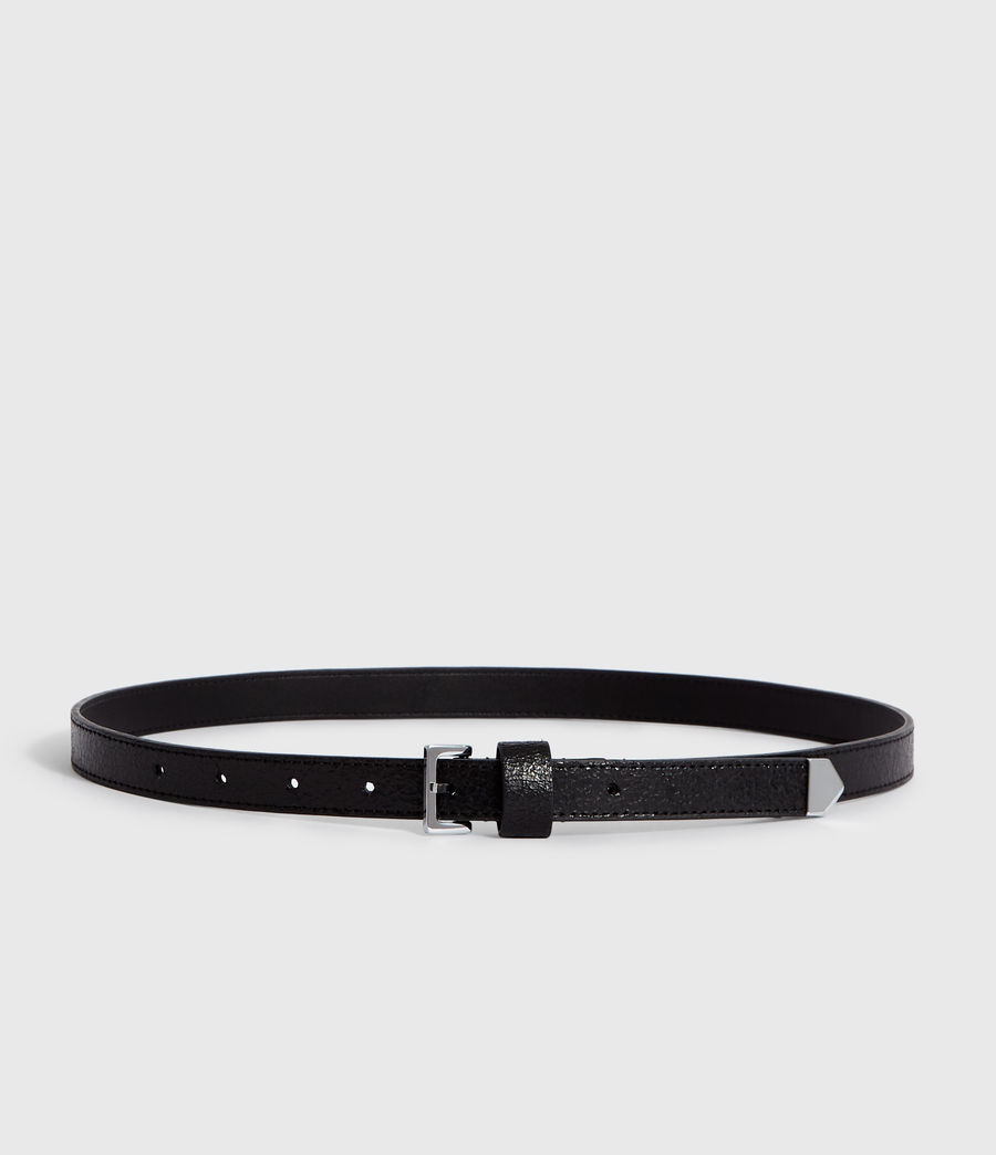 Womens Pipi Leather Belt (white) - Image 5