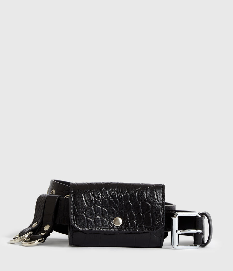 Womens Agnes Leather Belt (black) - Image 1