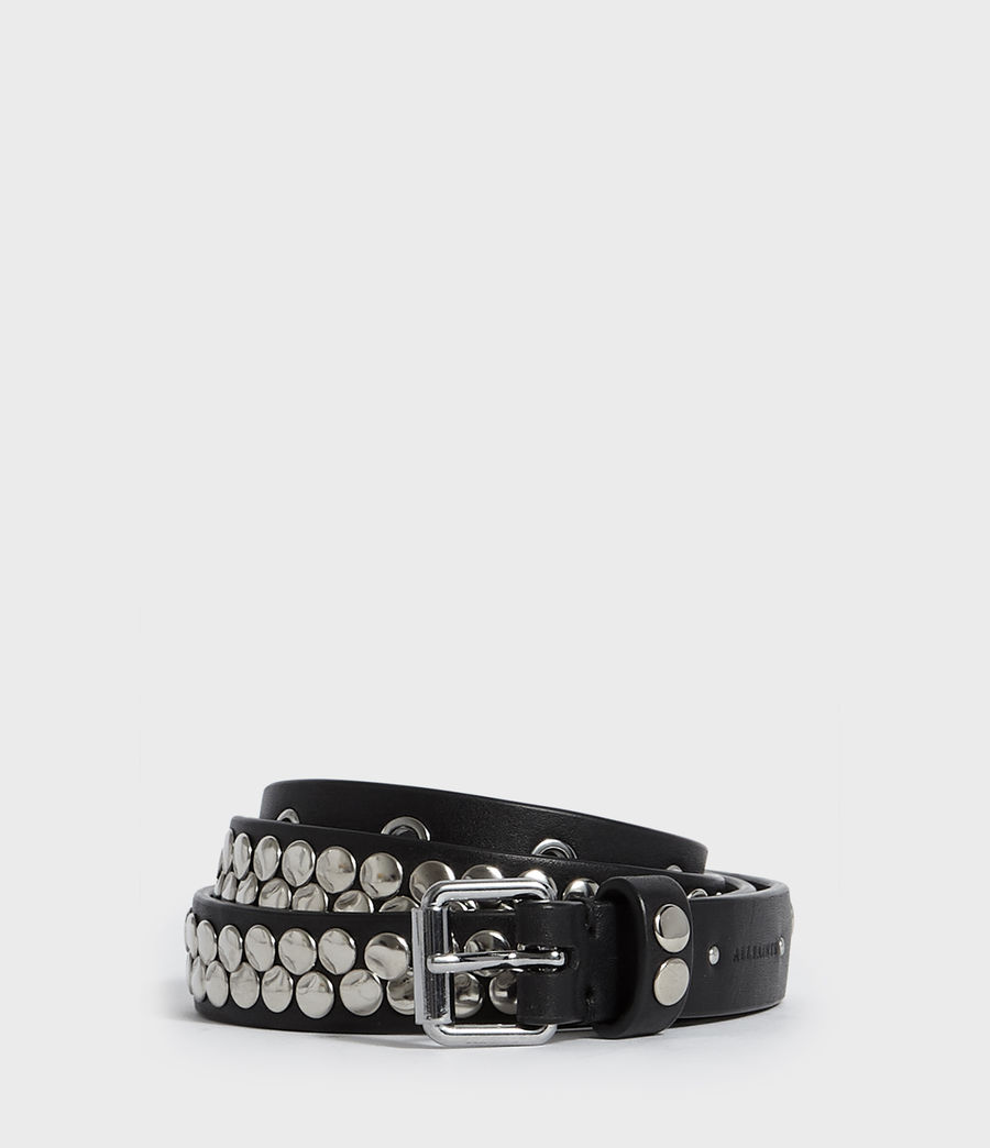 Womens Francoise Leather Belt (black) - Image 1