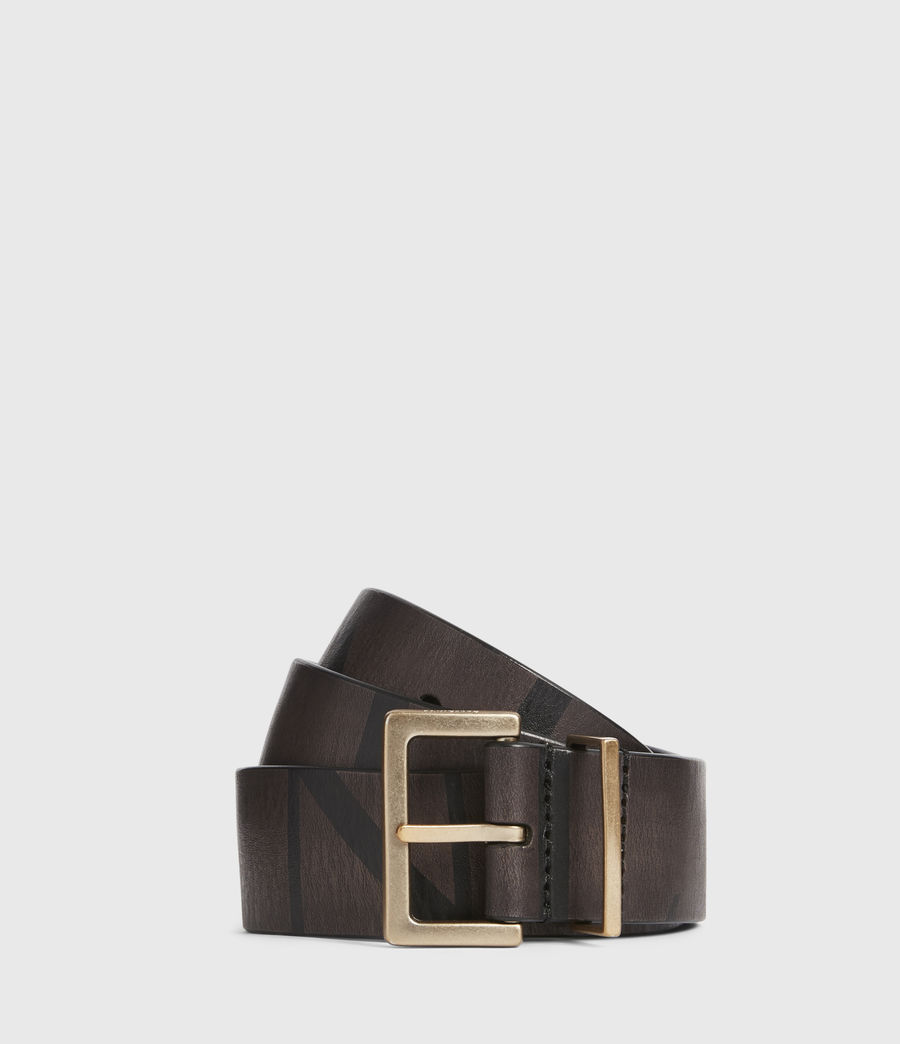 Womens Scarlett Leather Belt (greygold) - Image 1