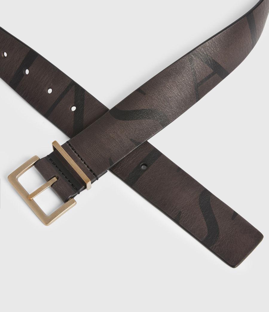 Womens Scarlett Leather Belt (greygold) - Image 3