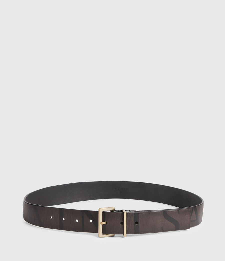 Womens Scarlett Leather Belt (greygold) - Image 4