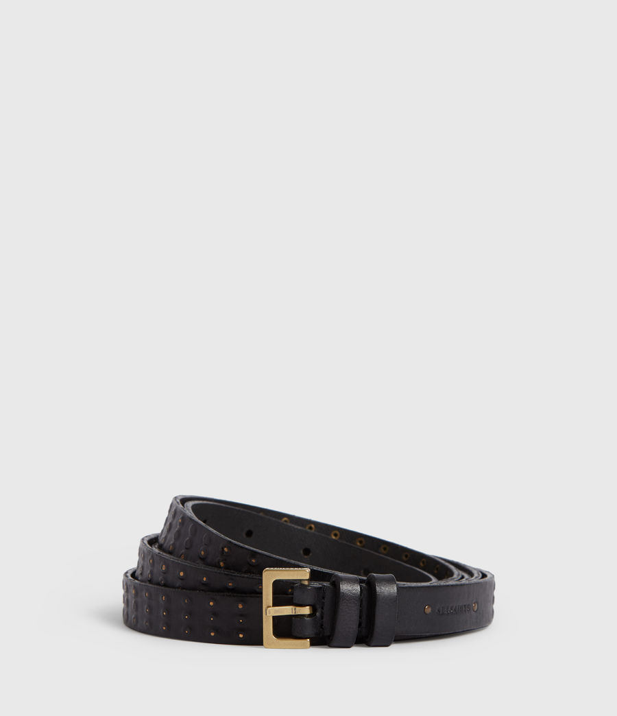 Women's Cassio Leather Belt (black) - Image 1