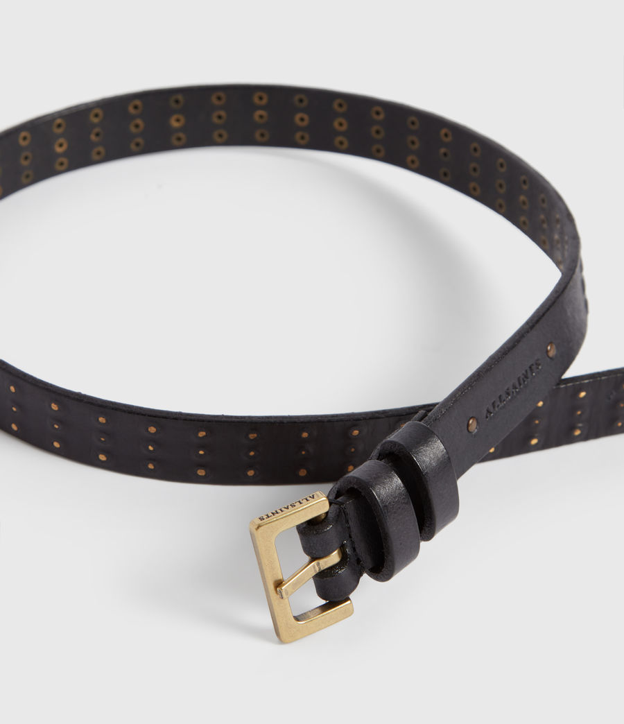 Women's Cassio Leather Belt (black) - Image 4
