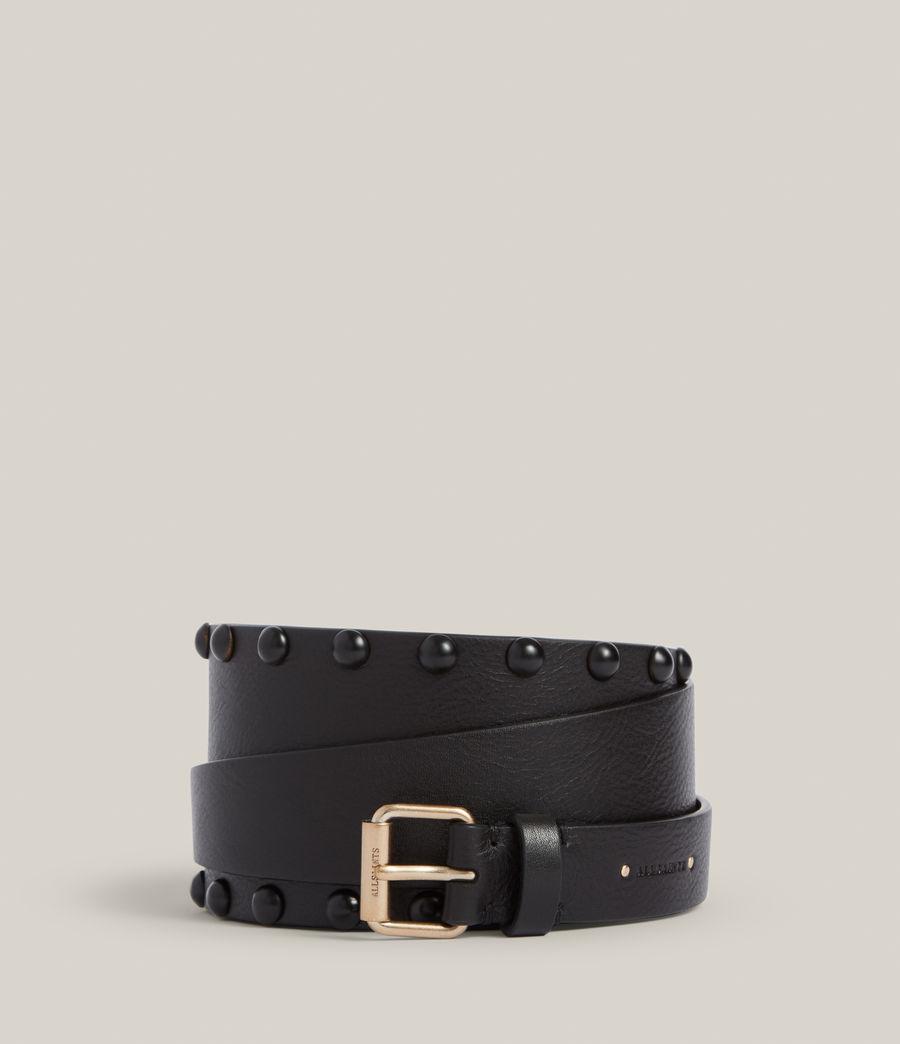 Women's Alcor Leather Belt (black_matt_black) - Image 1