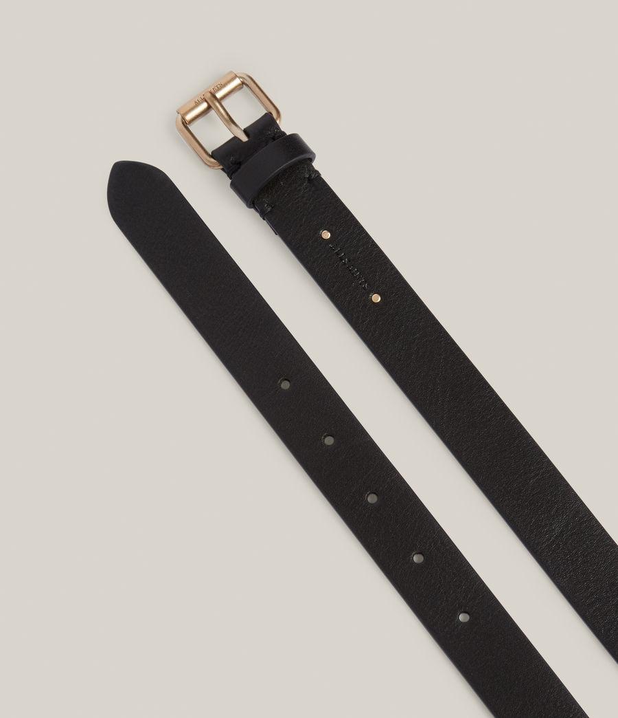 Women's Alcor Leather Belt (black_matt_black) - Image 2