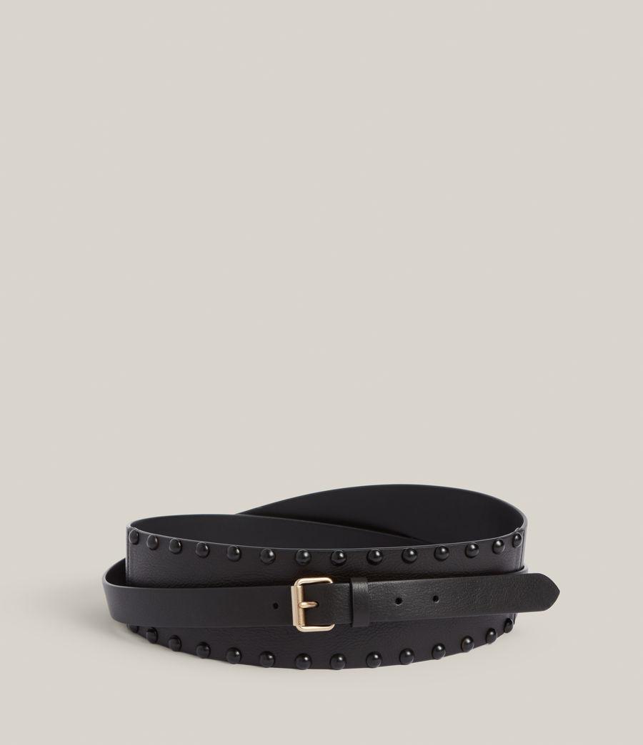Women's Alcor Leather Belt (black_matt_black) - Image 4