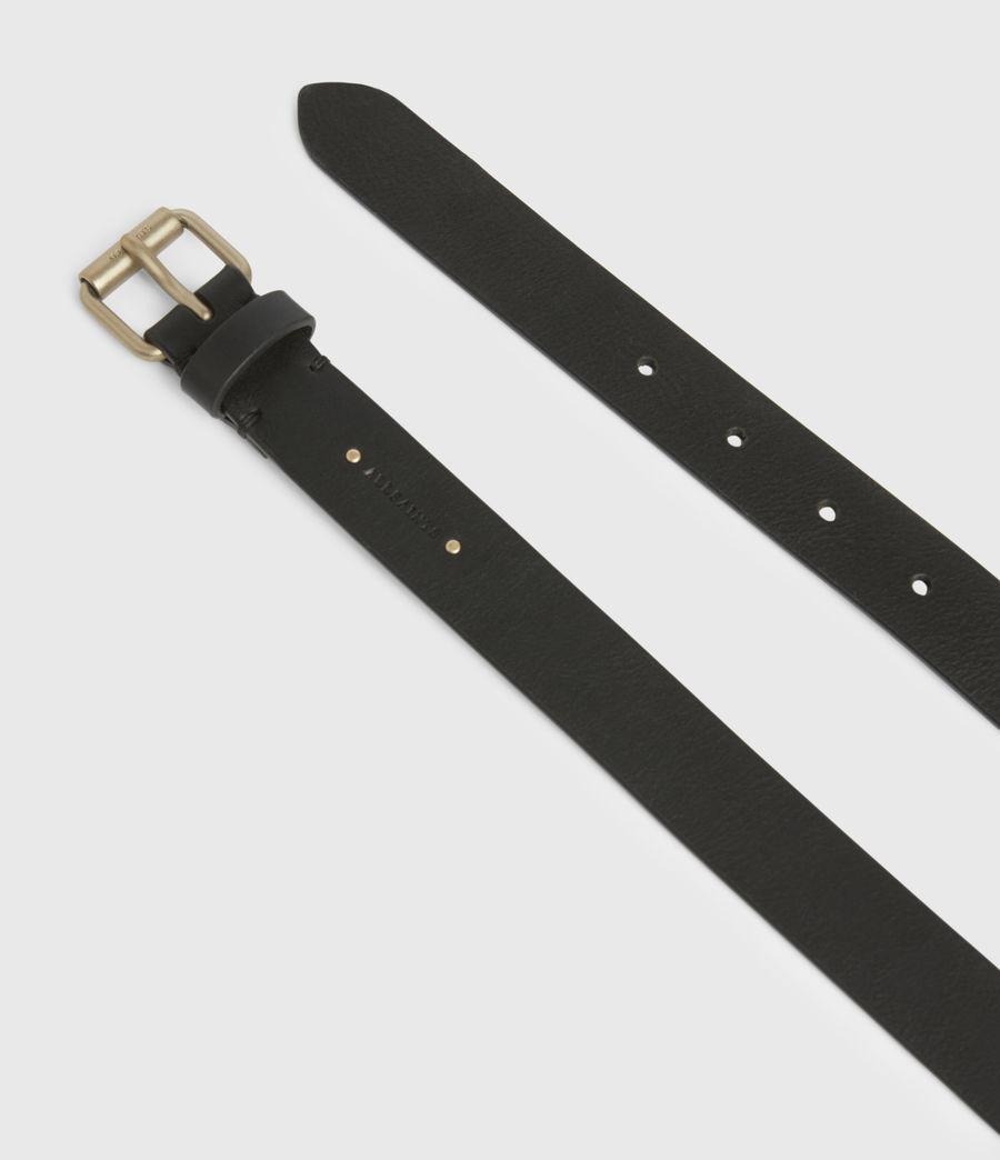 Women's Lily Leather Belt (black_warm_brass) - Image 2