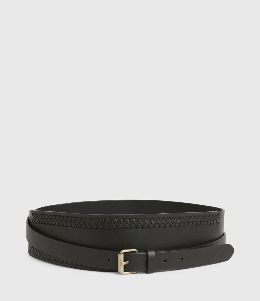 Women's Lily Leather Belt (black_warm_brass) - Image 3