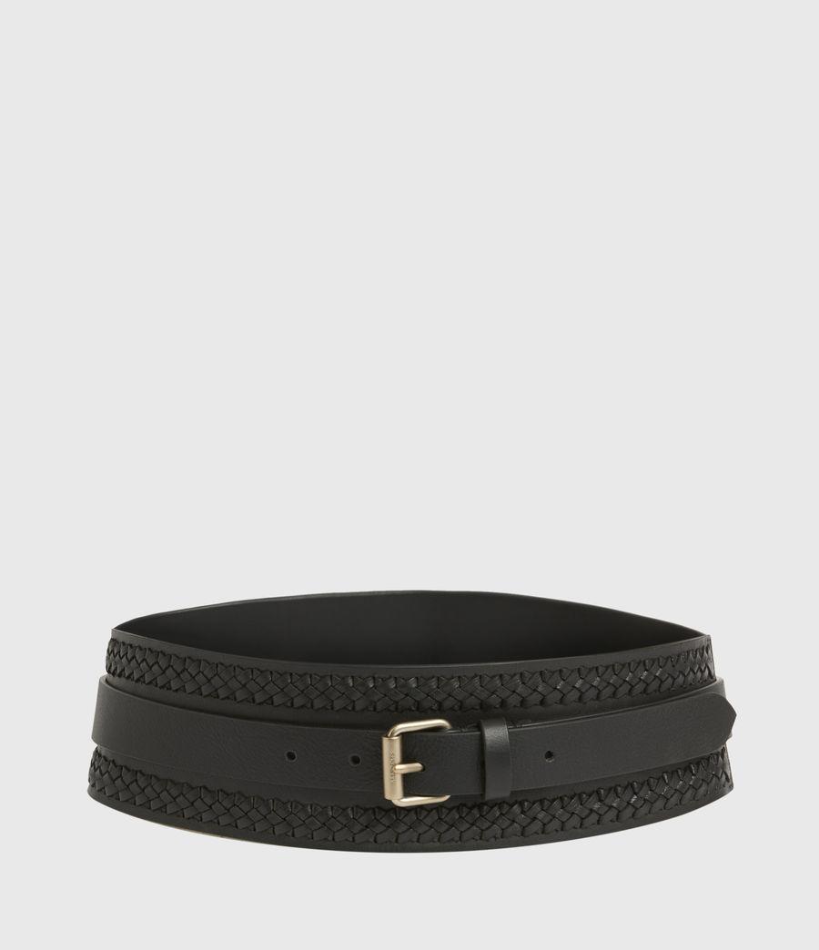 Women's Lily Leather Belt (black_warm_brass) - Image 5