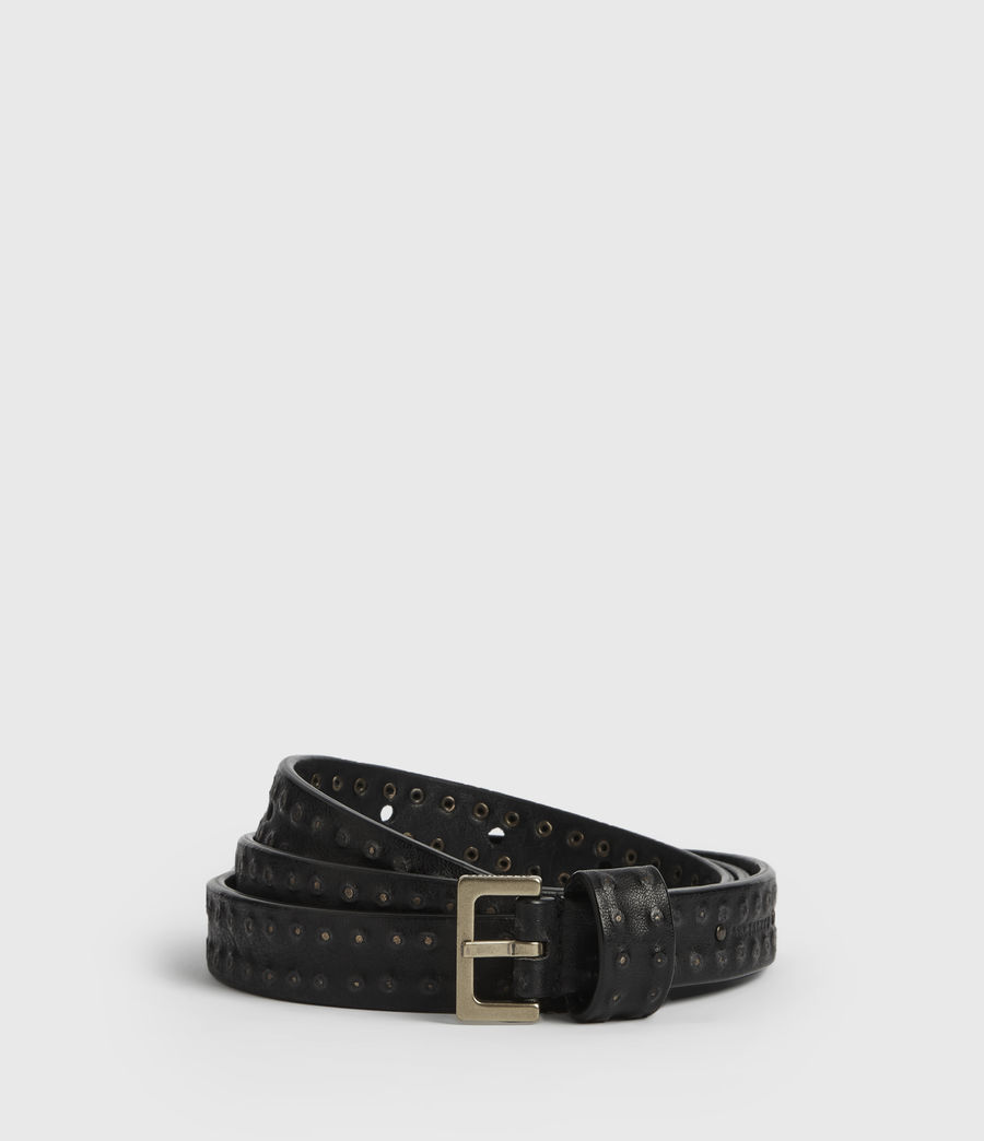Women's Copa Leather Belt (black) - Image 1