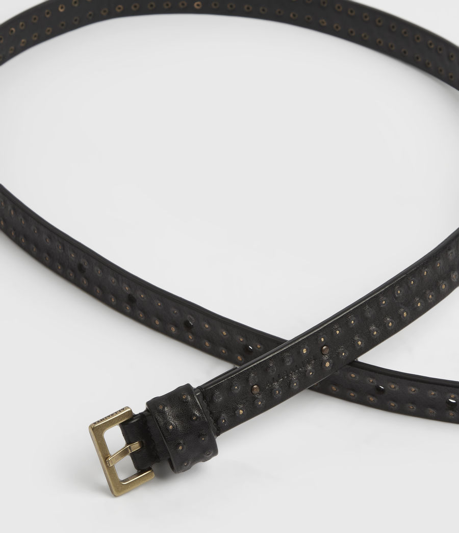 Womens Copa Leather Belt (black) - Image 3