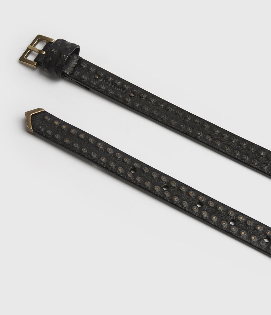 Women's Copa Leather Belt (black) - Image 4
