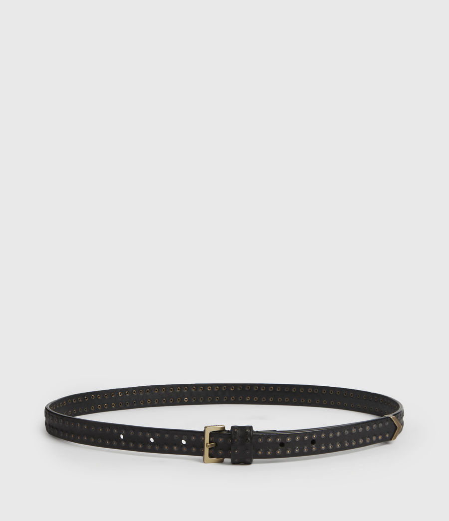 Womens Copa Leather Belt (black) - Image 5