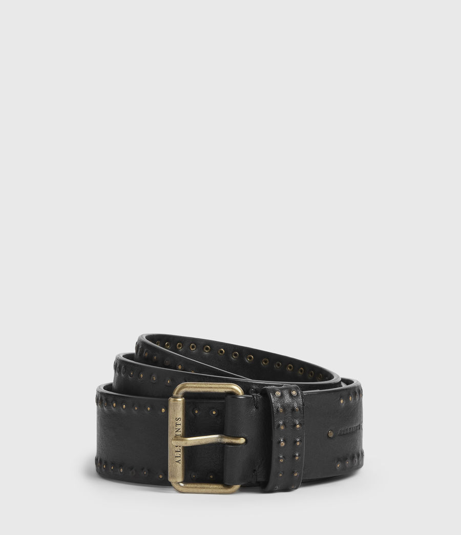 Women's Navagio Leather Belt (black) - Image 2