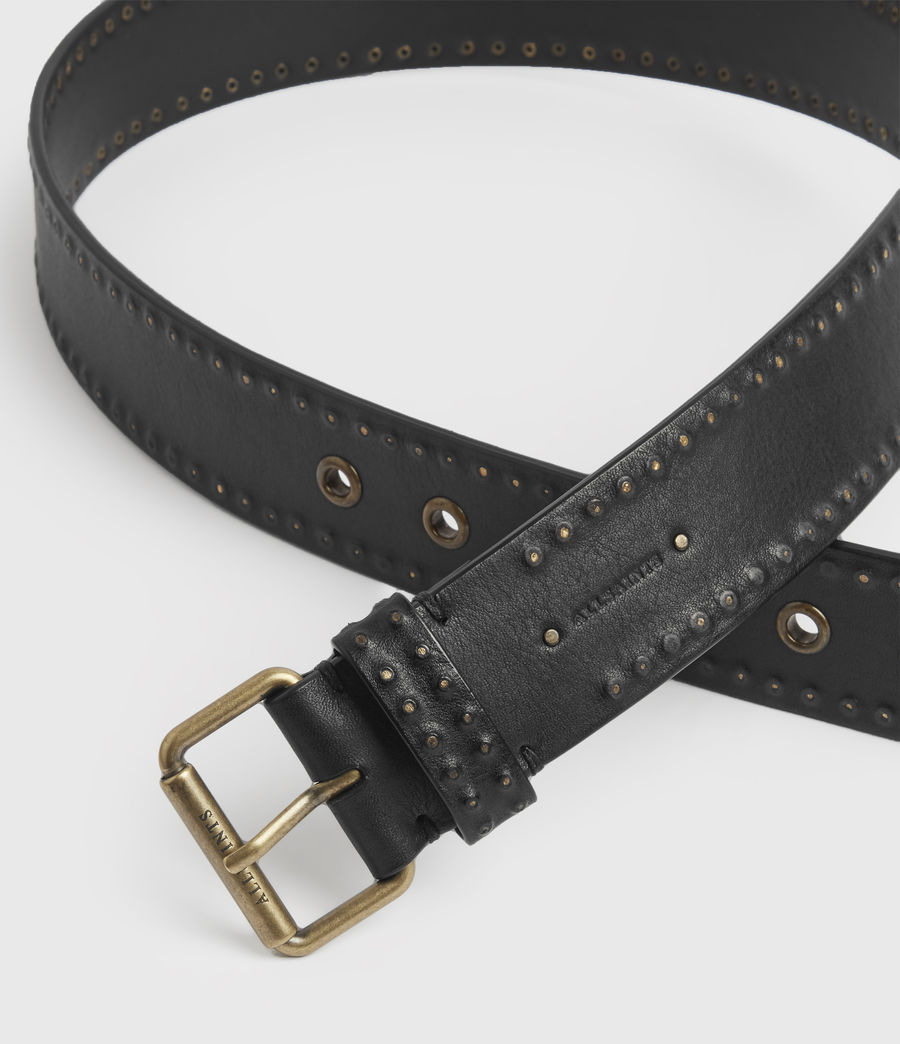 Women's Navagio Leather Belt (black) - Image 3