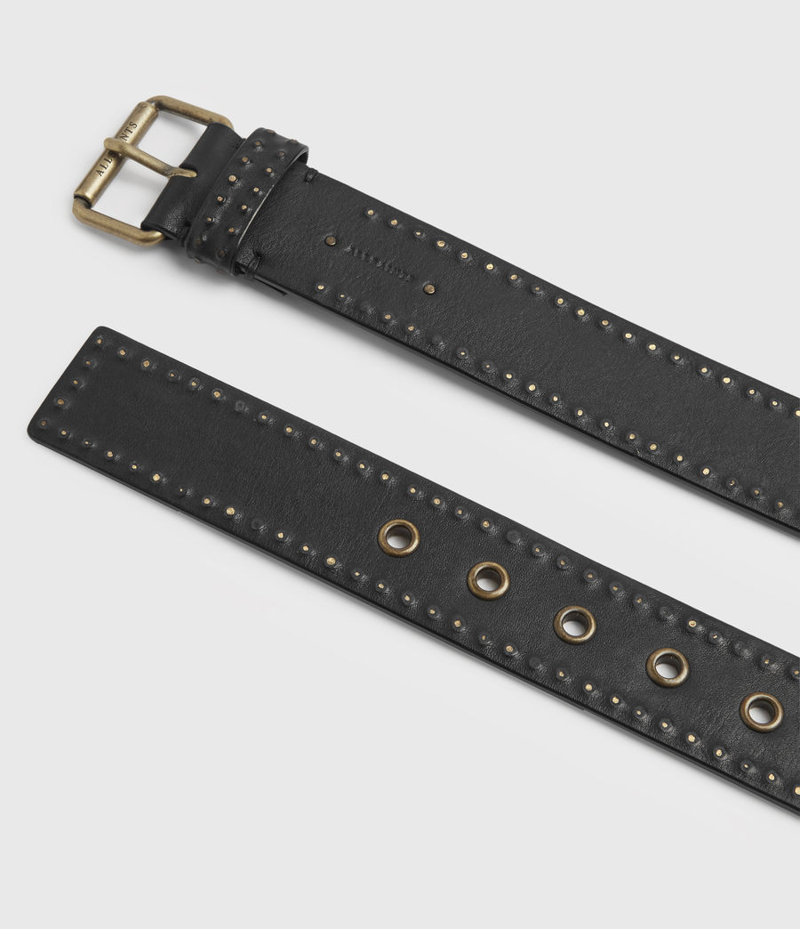 Women's Navagio Leather Belt (black) - Image 4