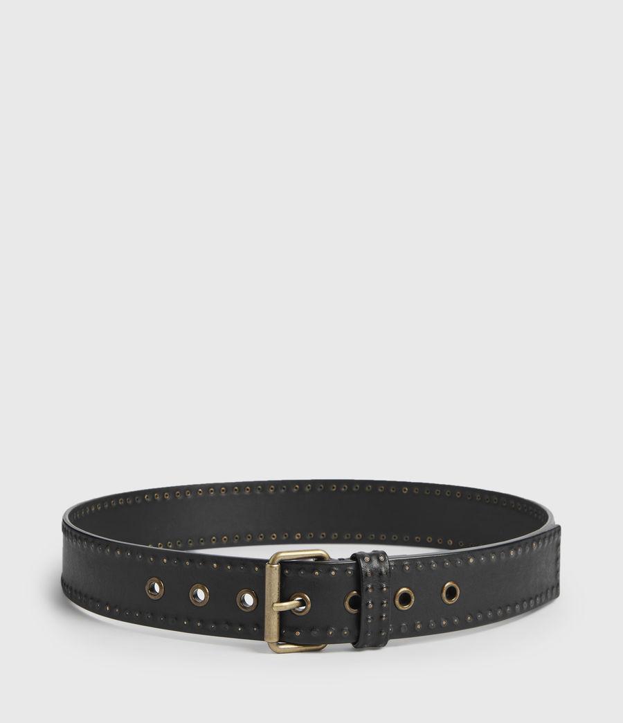 Mujer Cinturón de Piel con Microtachas Navagio (black) - Image 5