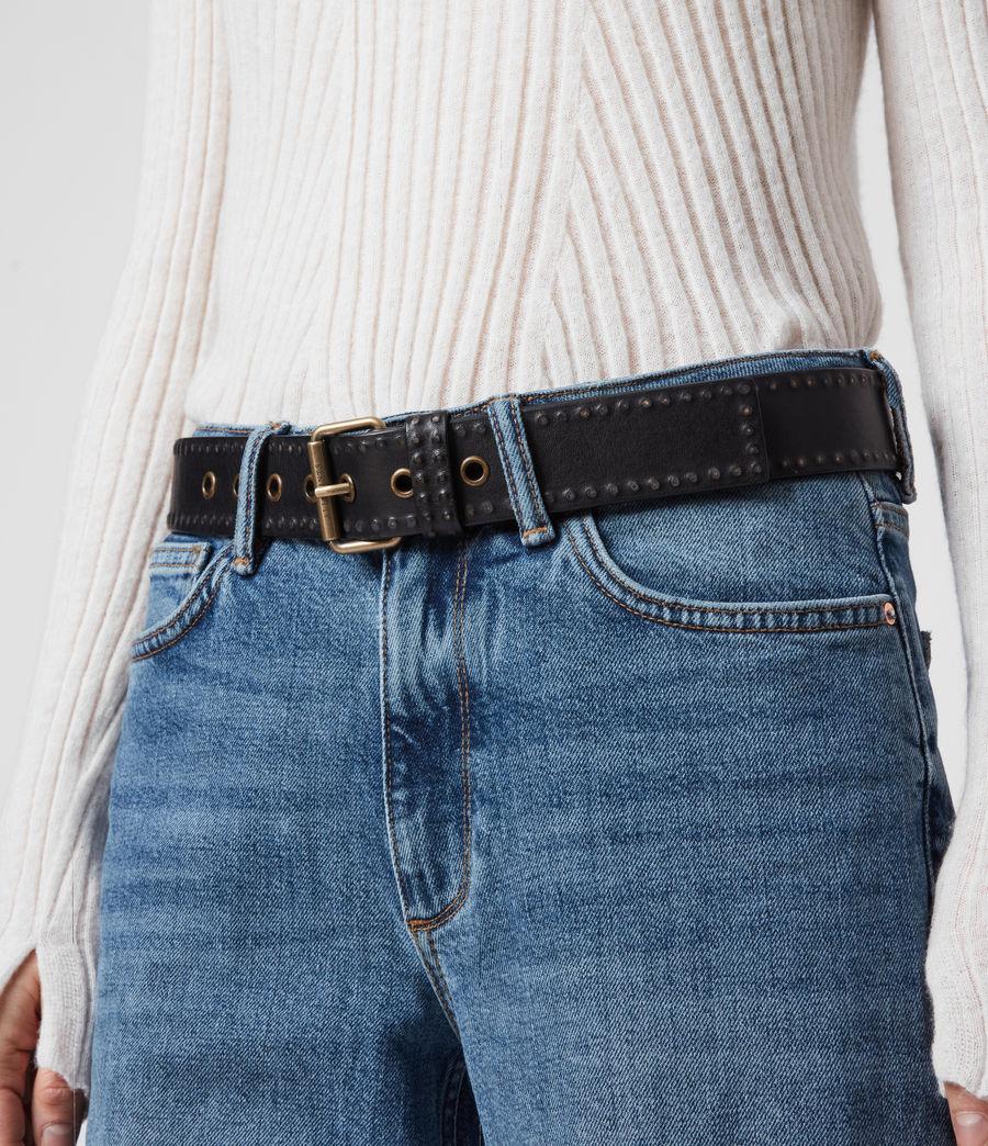 Mujer Cinturón de Piel con Microtachas Navagio (black) - Image 6