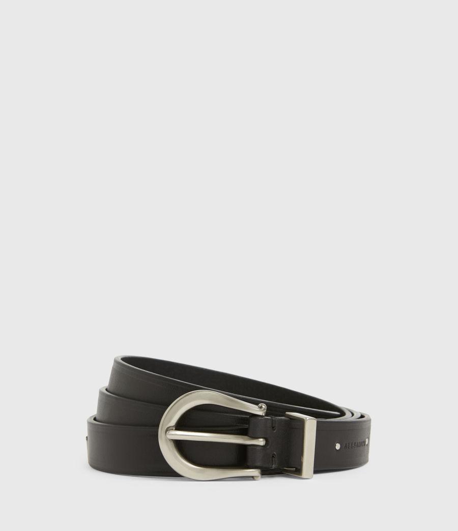 Women's Claudia Leather Belt (black) - Image 1