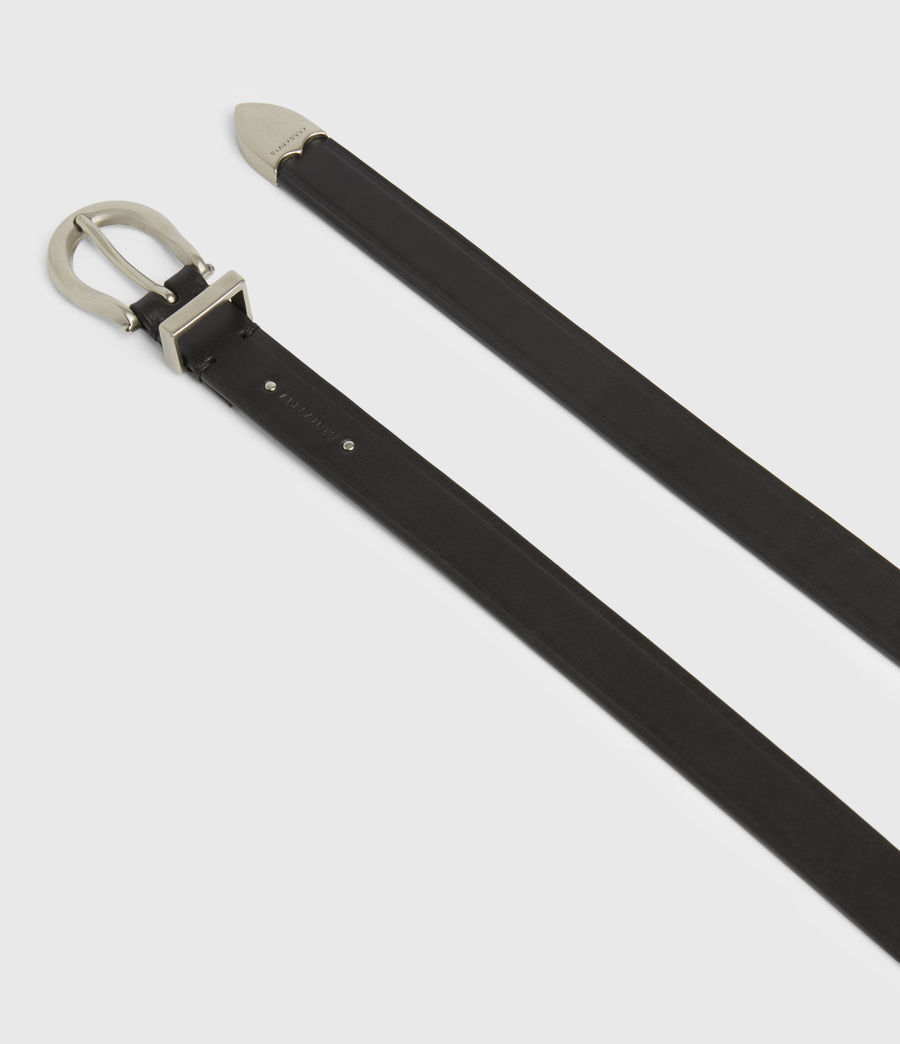 Women's Claudia Leather Belt (black) - Image 2