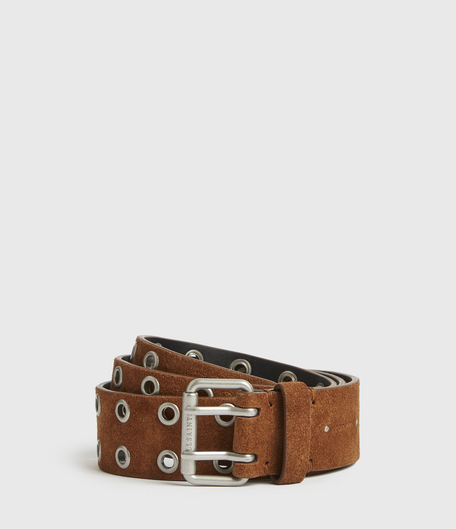 Womens Iryna Suede Belt (tan) - Image 2