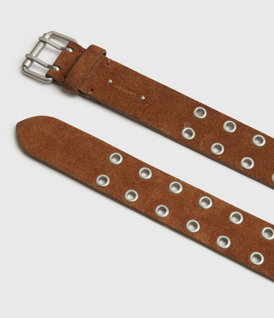 Womens Iryna Suede Belt (tan) - Image 4