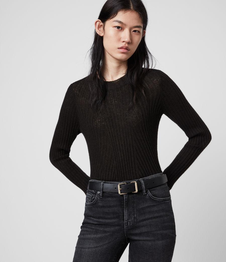 Women's Reethi Leather Belt (black) - Image 2