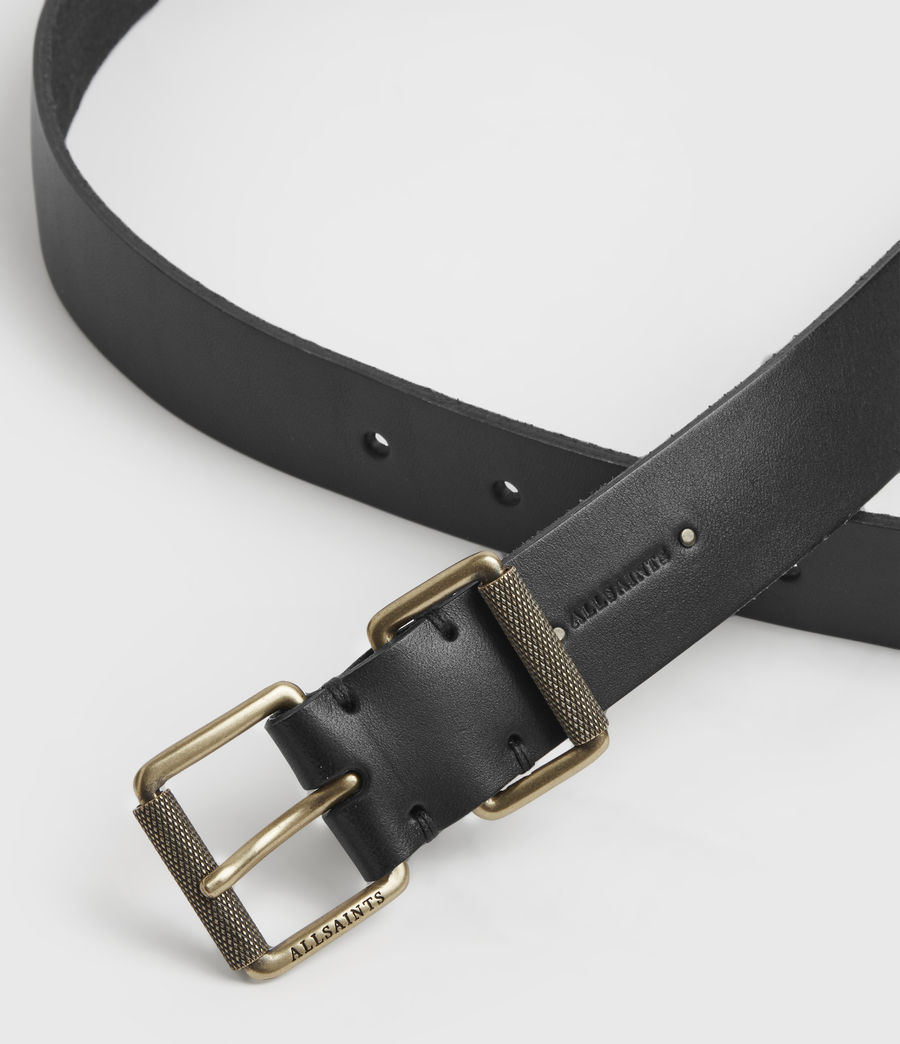 Womens Reethi Leather Belt (black) - Image 3