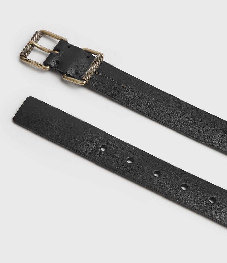 Womens Reethi Leather Belt (black) - Image 4