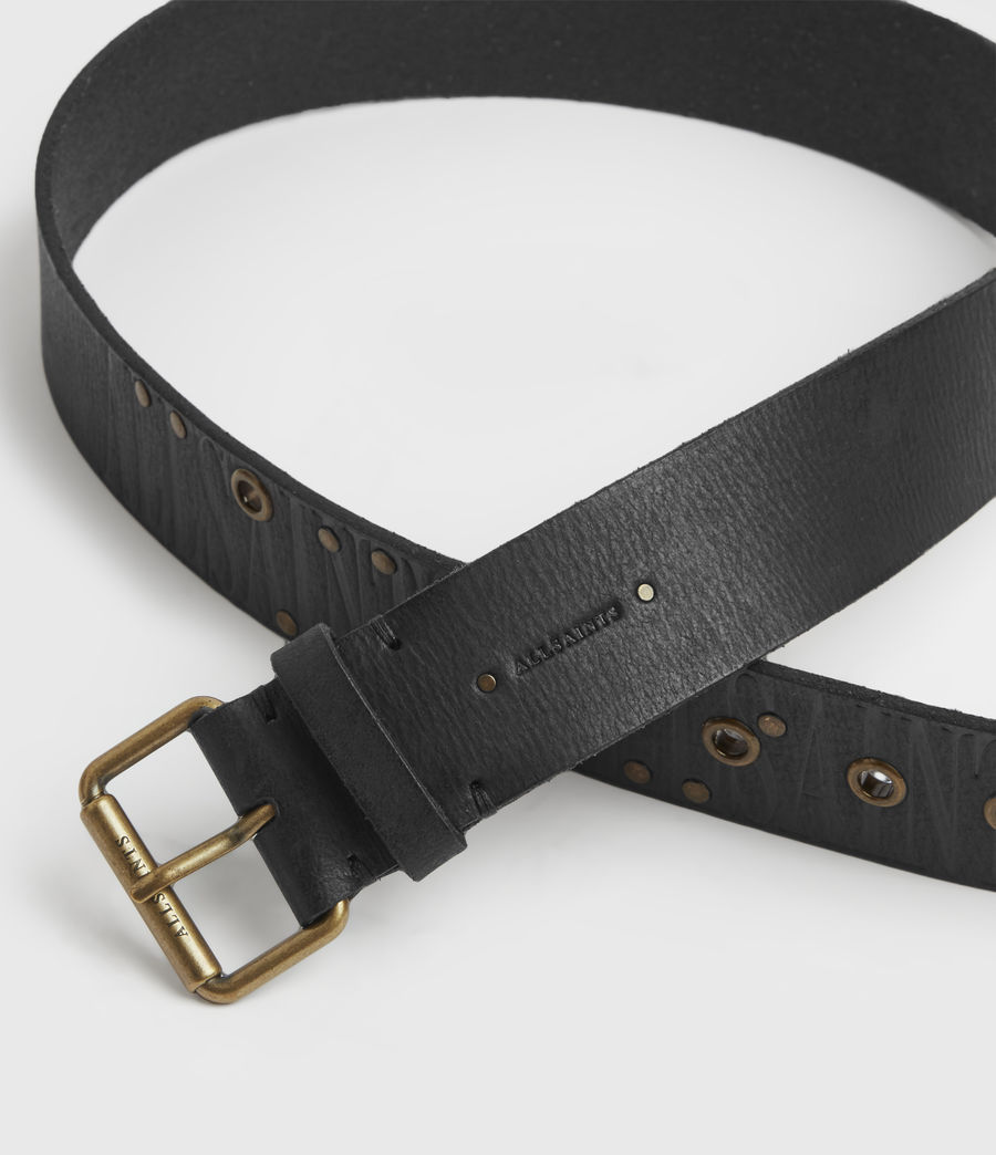 Womens Nido Leather Belt (black) - Image 3