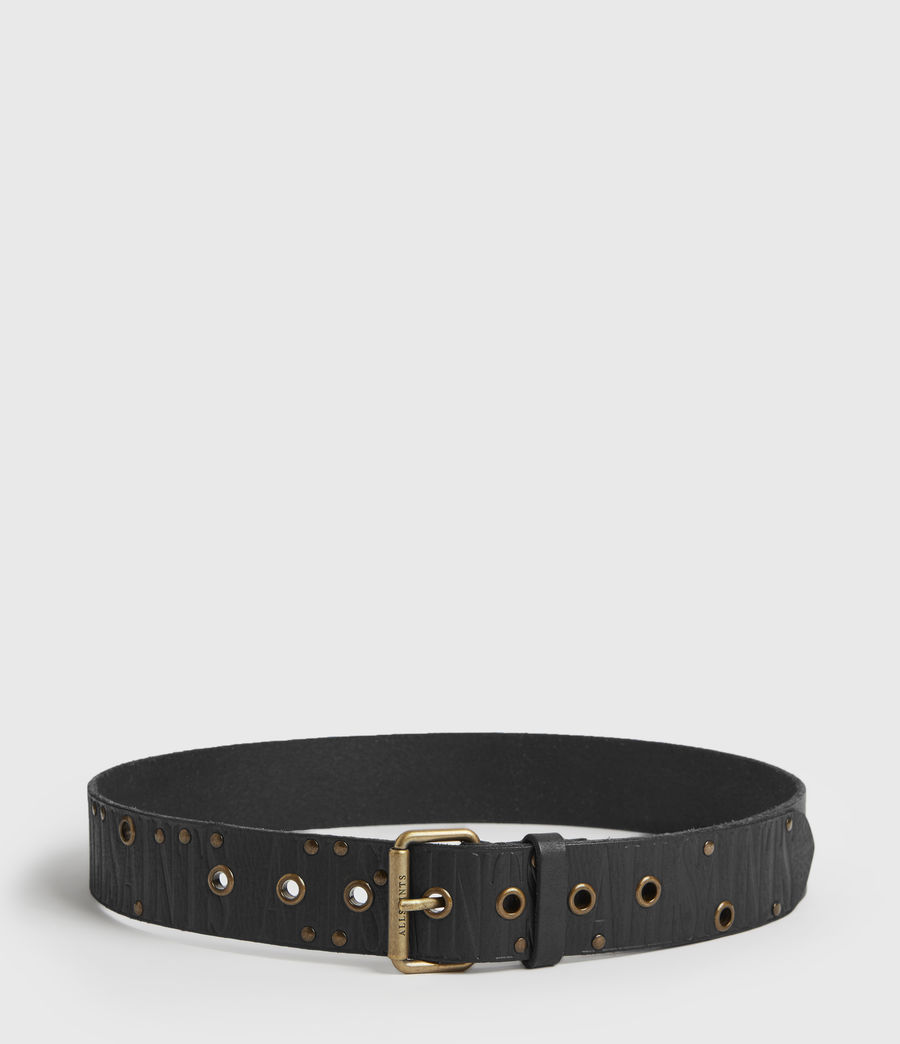 Womens Nido Leather Belt (black) - Image 5