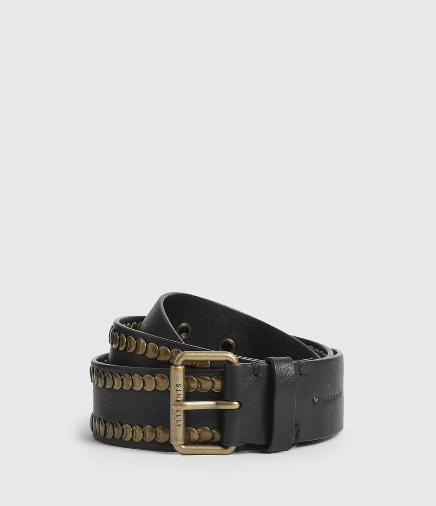 Womens Bathsheba Leather Belt (black) - Image 2