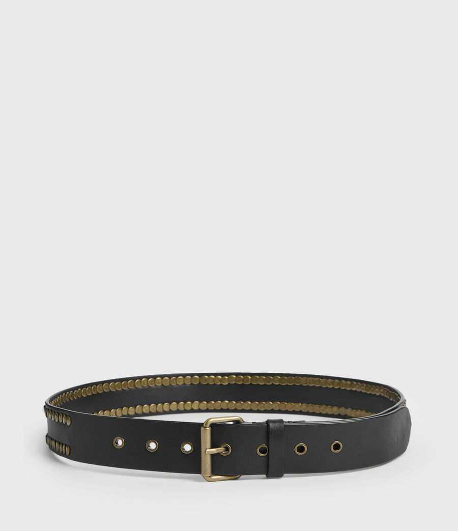 Womens Bathsheba Leather Belt (black) - Image 5