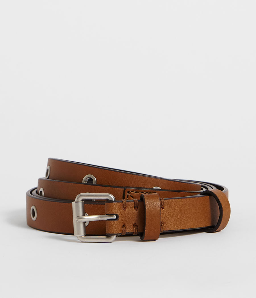 Women's Julia Leather Belt (tan) - Image 1