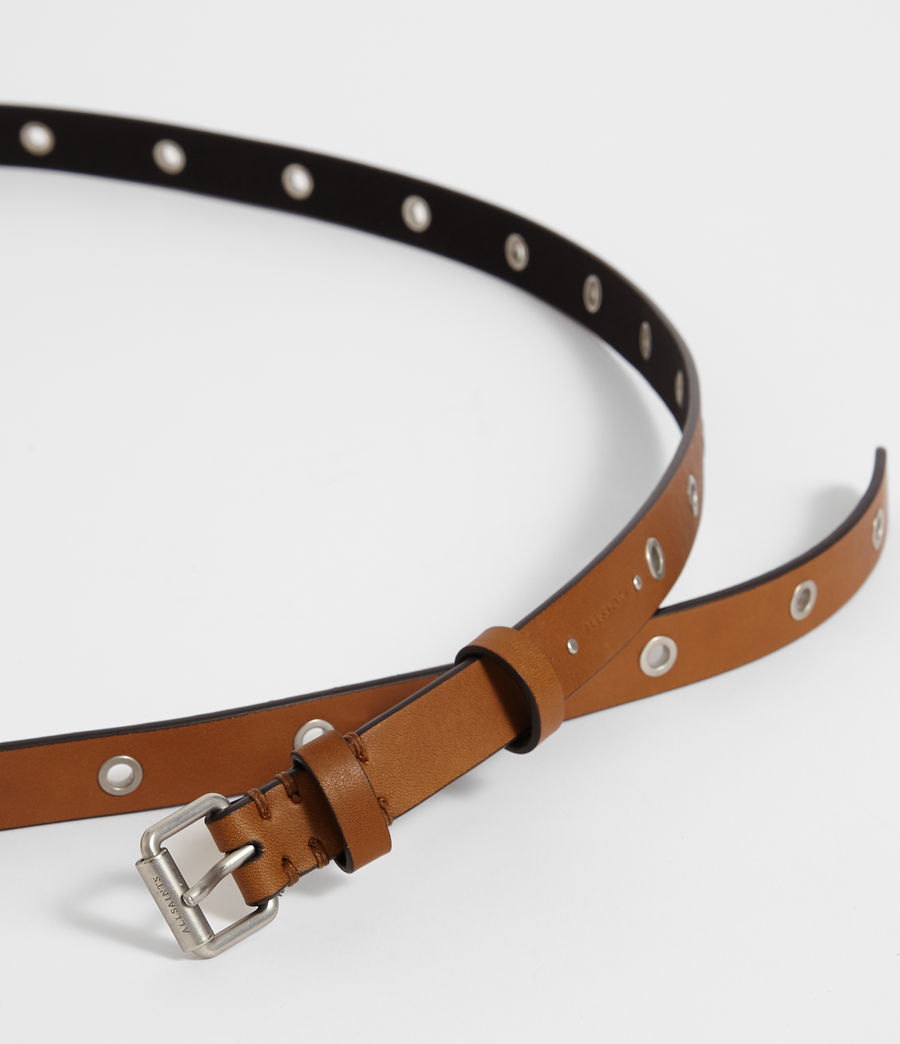 Women's Julia Leather Belt (tan) - Image 2