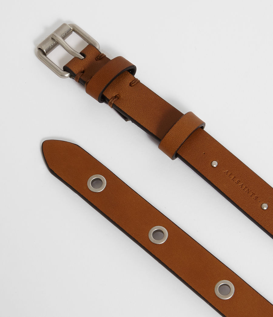 Women's Julia Leather Belt (tan) - Image 3