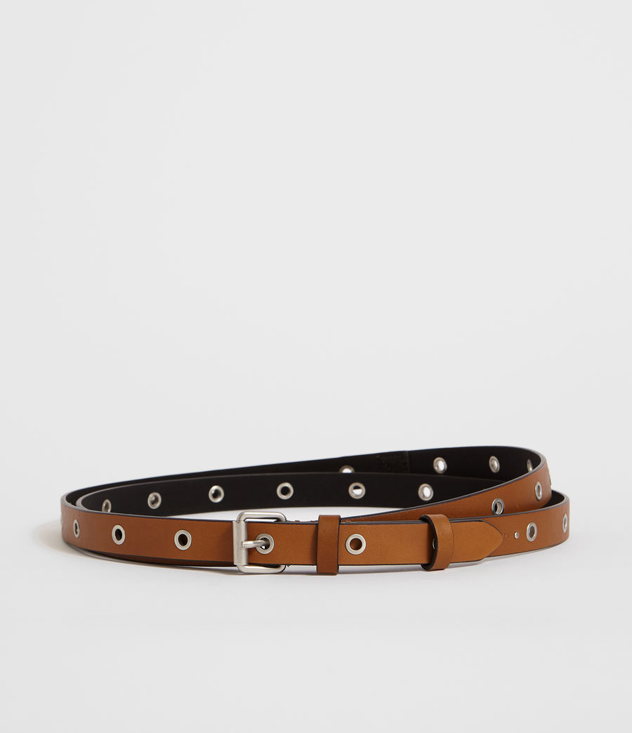Women's Julia Leather Belt (tan) - Image 4