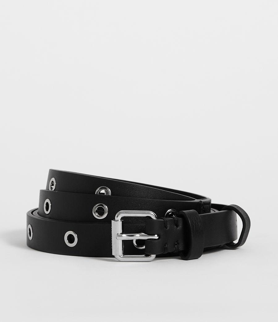 Womens Julia Leather Belt (black) - Image 1